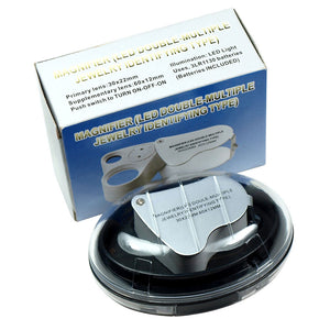Illuminated 30X - 60X Jewelers Loupe Lighted Magnifier US Free Shipping - Anyvolume.com