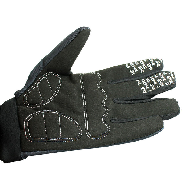 Biker Skeleton Bone Gloves Racing Cycling Motorcycle Mechanics Goth Full Finger - Anyvolume.com