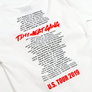 Tiny Meat Gang White Tour Tee