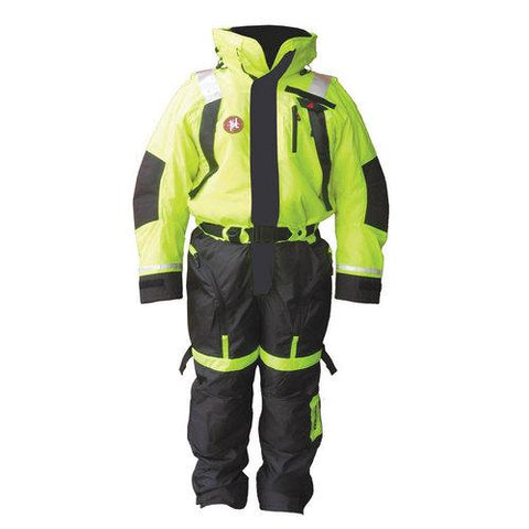 First Watch Anti-Exposure Suit - Hi-Vis Yellow/Black - Large