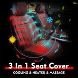 EPIC Car & Office 3in1 Full Cooling, Heating & Massaging Seat Cushion Cover with Vibration Massager Pad and Ventilation