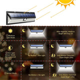 118 LED 3 Modes 270° Outdoor Solar Lamp with Motion Detector