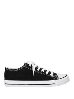 Lace-up Low Top Canvas Shoes - ethereal-arscenic