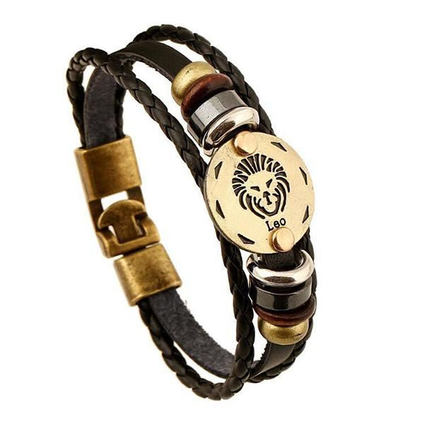 Anonymous Zodiac Leather Bracelets - ethereal-arscenic