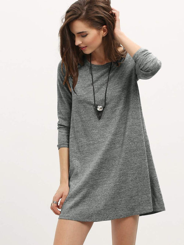 Long Sleeve Casual Dress - ethereal-arscenic