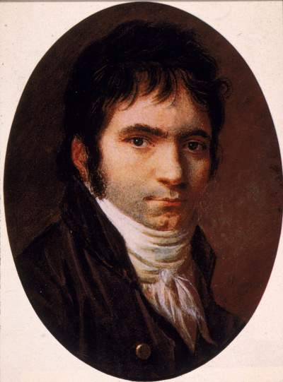 ludwig van Beethoven painted by christian horneman, 1803.