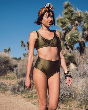 The Tennis Club Top in Olive