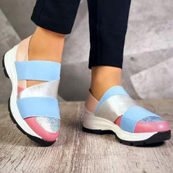 All Season Women Color Block Comfy Sneakers
