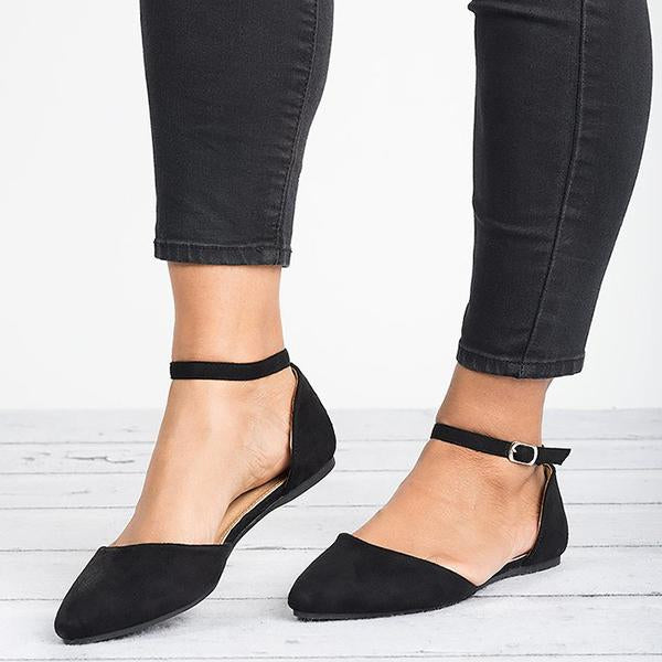 Ankle Strap Ballerina Flat Shoes