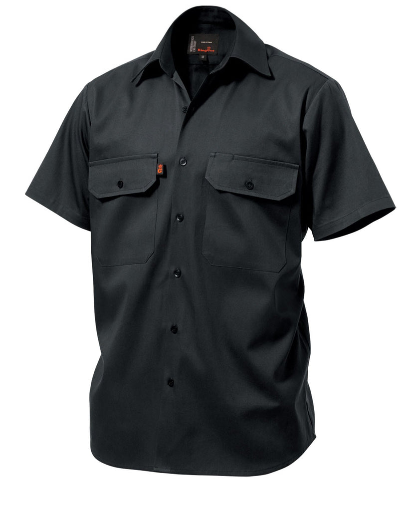 King Gee  Open Front Drill Shirt S/S  (K04030)