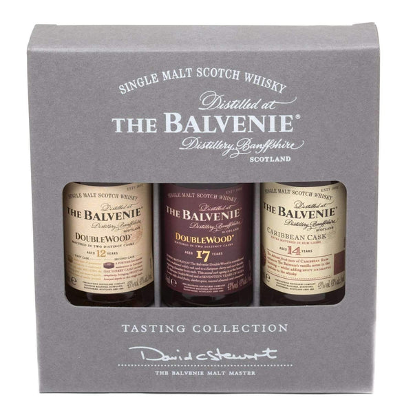 Just Miniatures:Balvenie Mixed Single Malt Scotch Whisky Miniature Gift Set - 3 x 5cl