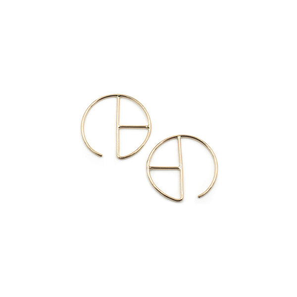 RADA 14K ear hugs in recycled 14K gold from MGG Studio