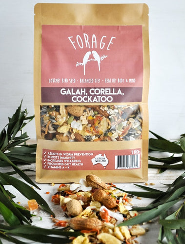 FORAGE COCKATOO, GALAH & CORELLA 1KG
