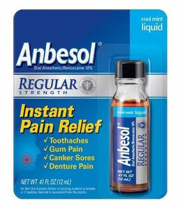 Buy Anbesol Liquid Oral Pain Reliever Cool Mint by Wyeth Pfizer - Mi Paste Store