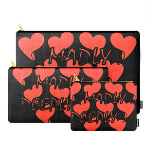 Madly... Deeply... Black © Zippered Pouch