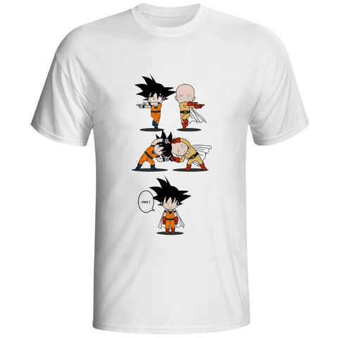 Tshirt Fusion Dragon Ball et One Punch Man