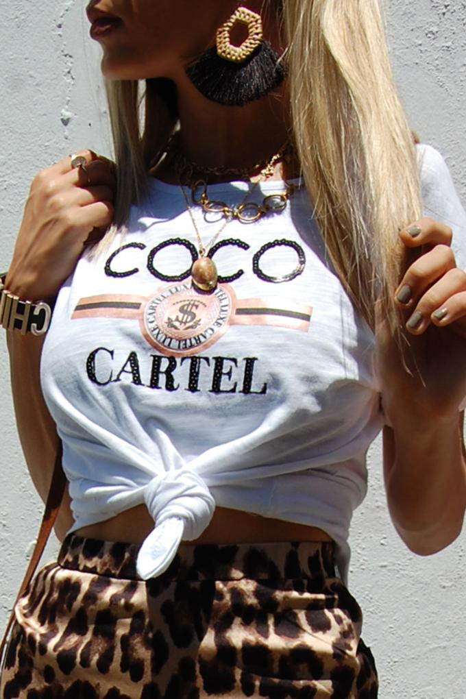 Coco Cartel Sequin Tee