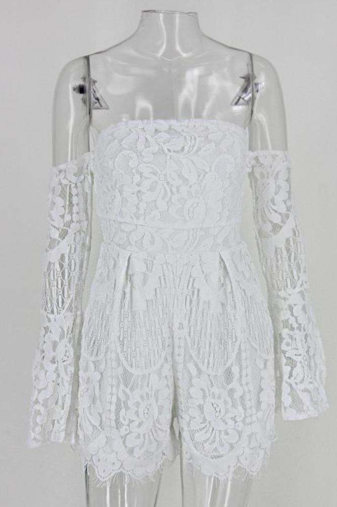 Giovanna Playsuit White