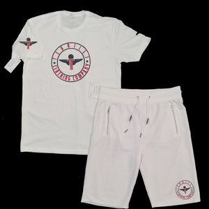 Terrilli Circle Logo Short Set (White/Black/Red)