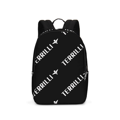 Terrilli Print Black Large Backpack