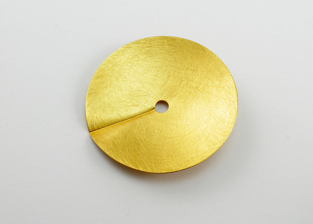 Circle brooch, gold-plated silver