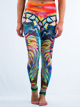 Load image into Gallery viewer, Meditating Monkey Hand Drawn Art Leggings