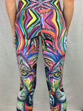 Load image into Gallery viewer, The Maya Lion Digital Art Leggings