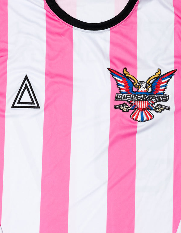 TRI x KiLLA PINK Long Sleeve soccer jersey - DIPSET COUTURE