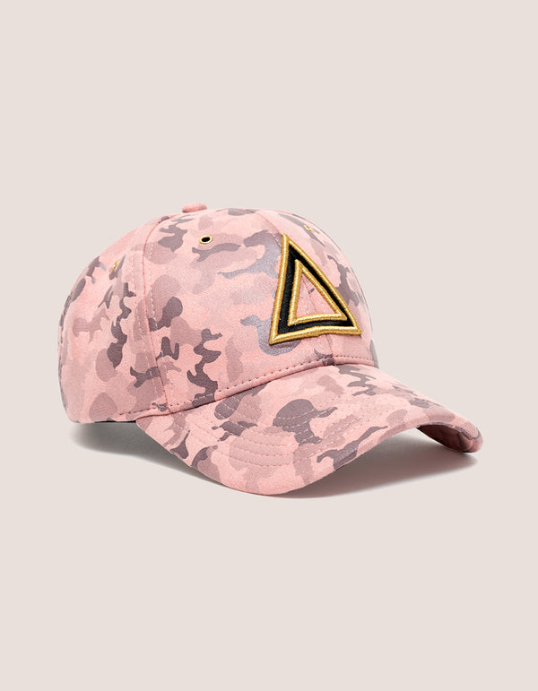 TRI x KILLA Camo Suede Pink Baseball hat - DIPSET COUTURE
