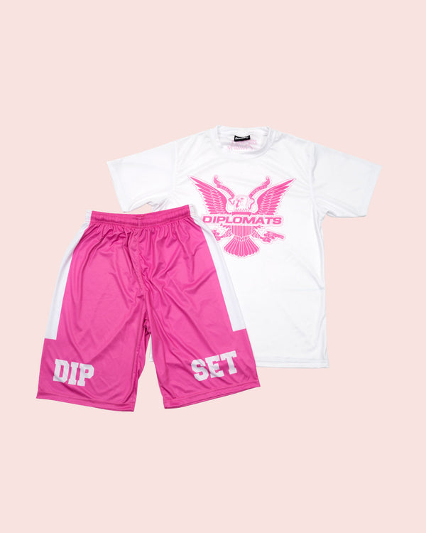 T-Shirt Summer Set white & pink - DIPSET COUTURE