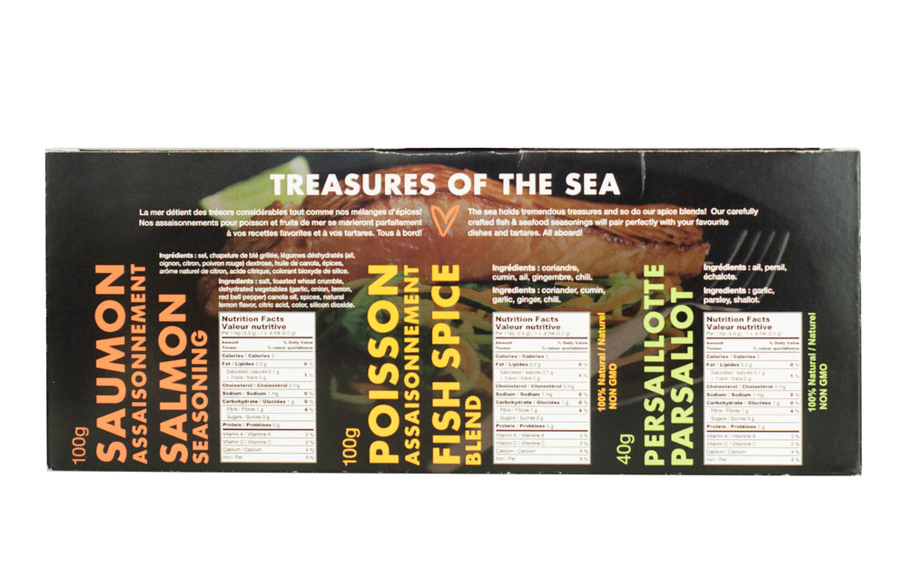 Treasures of the Sea 3-pack Spice Set - A Spice Affair. 190g (6.65 oz)