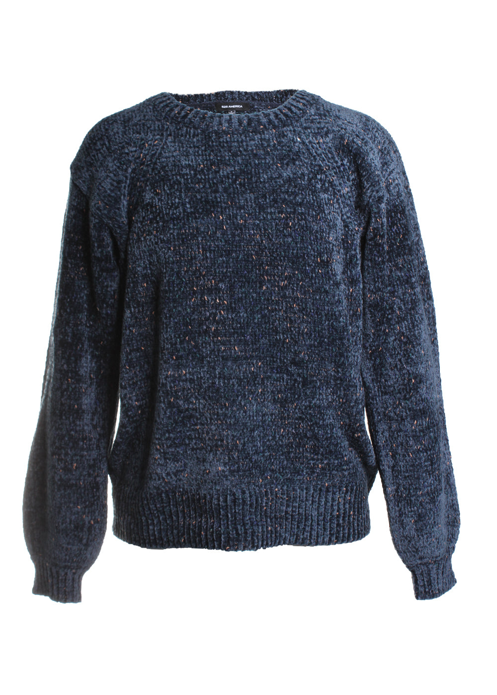 Chenille Fleck Chunky Sweater