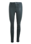 L'Agence Marguerite High Rise Coated Jean in Evergreen