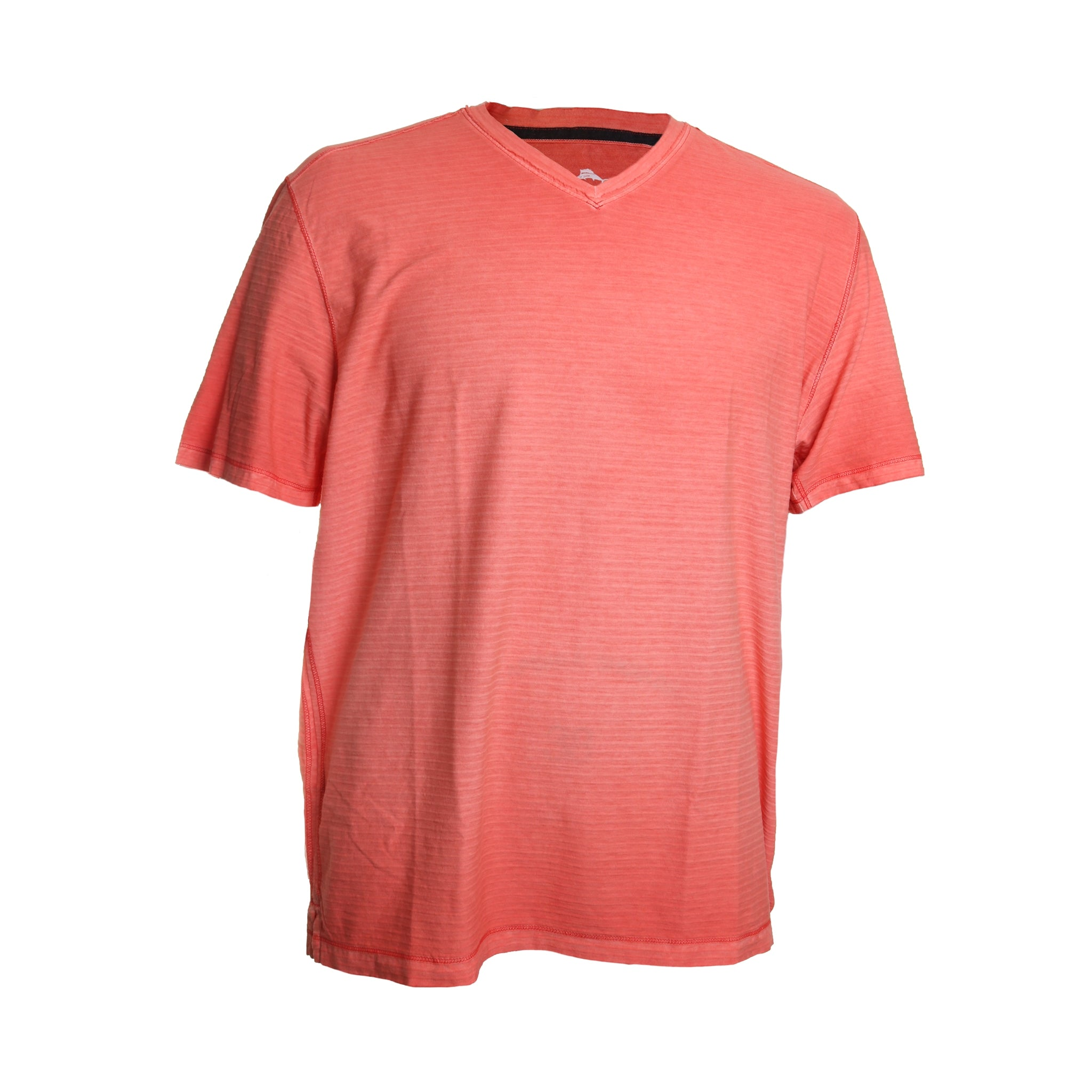 Tommy Bahama Cirrus Coast Short Sleeve V Neck Tee Shirt in Mango Tango