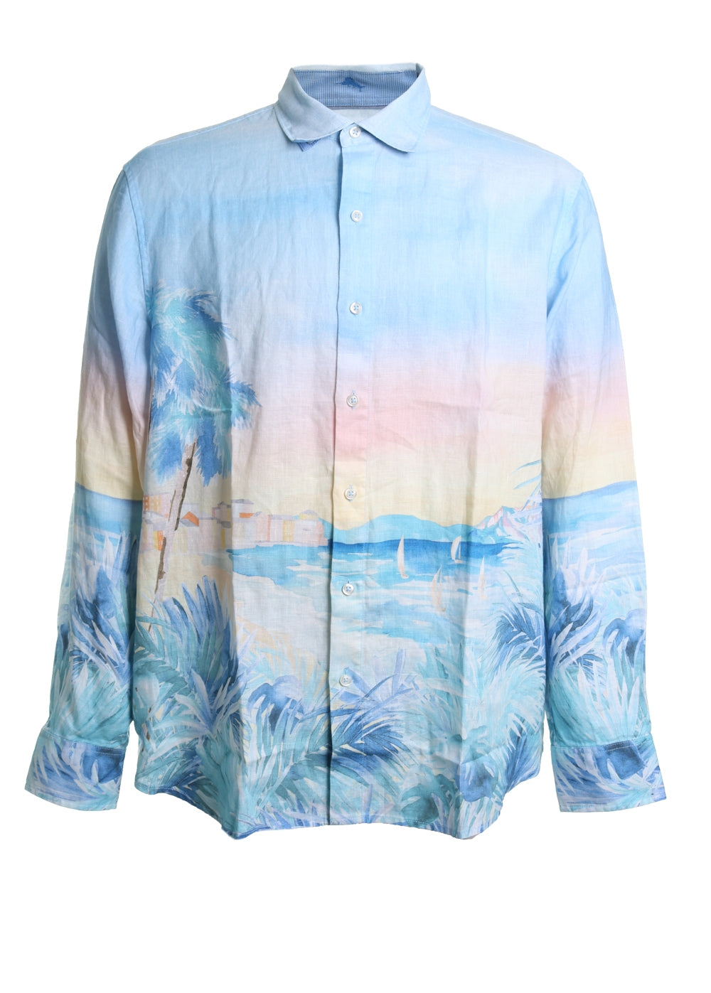 Tommy Bahama Forte Dei Marmi Linen Button Down Shirt in Light Sky