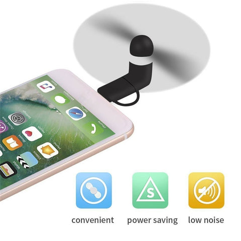 Cool Micro USB Fan For iphone 5 5s 6 6s 7 plus 8 - Paradisegadgets.com