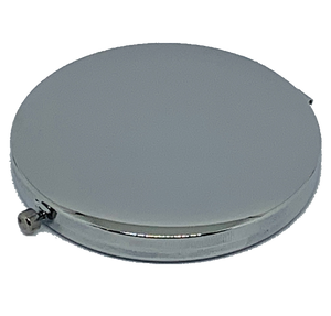 Blank Compact Mirror Flat Front Silver High Quality