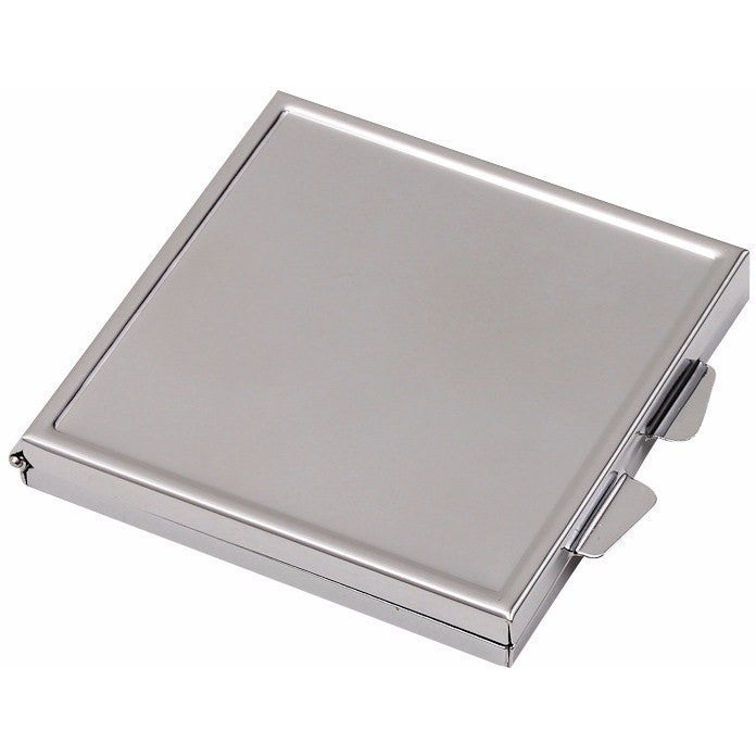 Wholesale Lot of 25 Blank Metal Compact Cosmetic Mirror Cases Square DIY