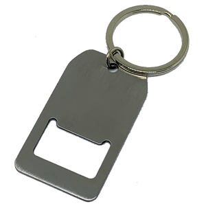 Blank Metal Bottle Opener Key Chain Tag
