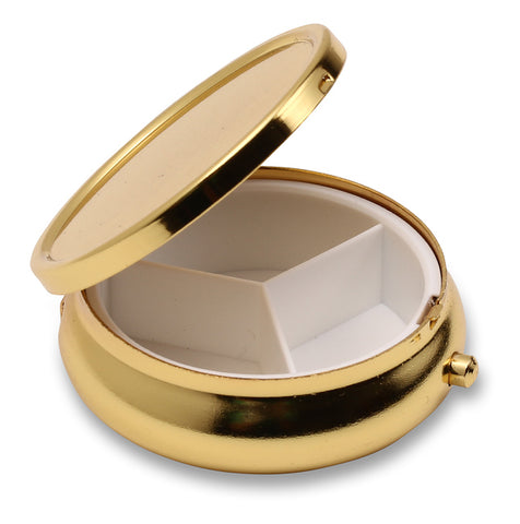 Wholesale 50 Blank Pill Box Case Container Circle Gold