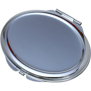 Wholesale Lot of 25 Blank Metal Compact Mirror Cases Oval DIY
