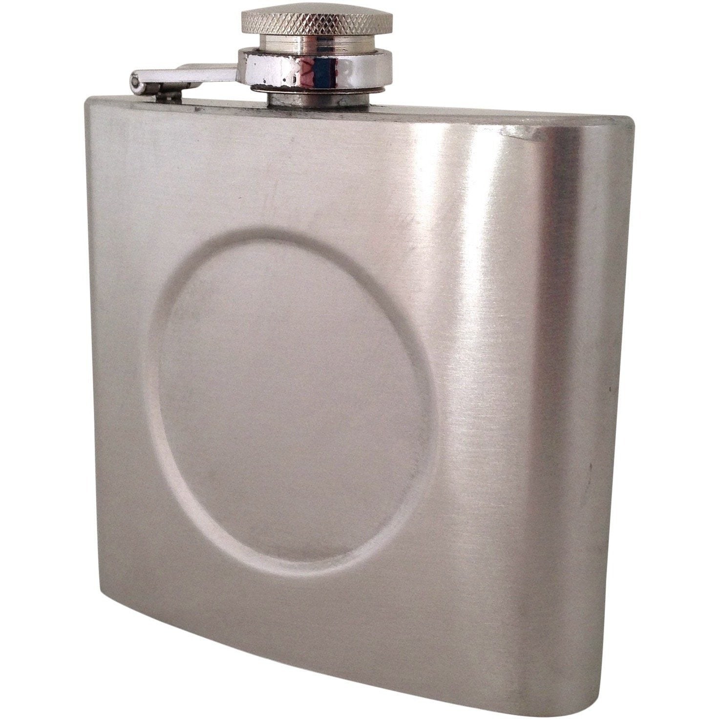 Wholesale Lot of 10 Blank Metal Flask 6oz with space for Logo DIY