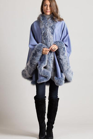 Oversize Cashmere Fantastic with Fox Fur Poncho
