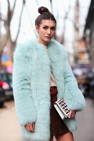 Cosy Fashion Warm Fur Coat