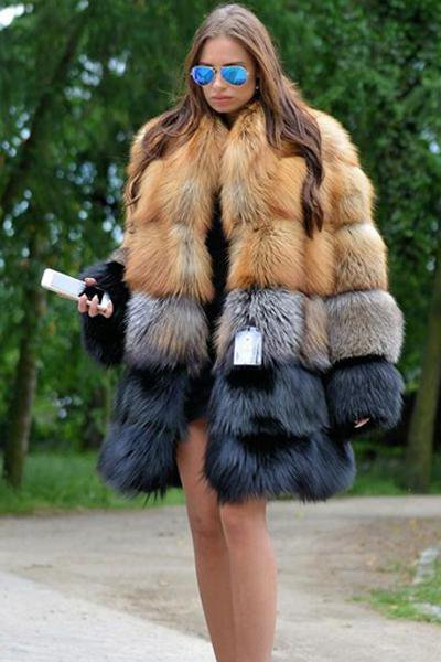 Sable Silver Long Fur Jacket