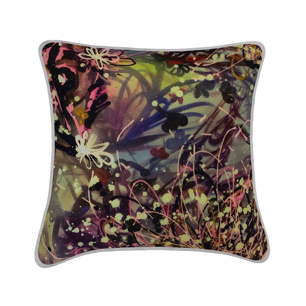 Jess Gorlicky Explosive Abstract Cushion