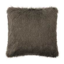 Load image into Gallery viewer, Swallow B Grey Faux Fur Cushion