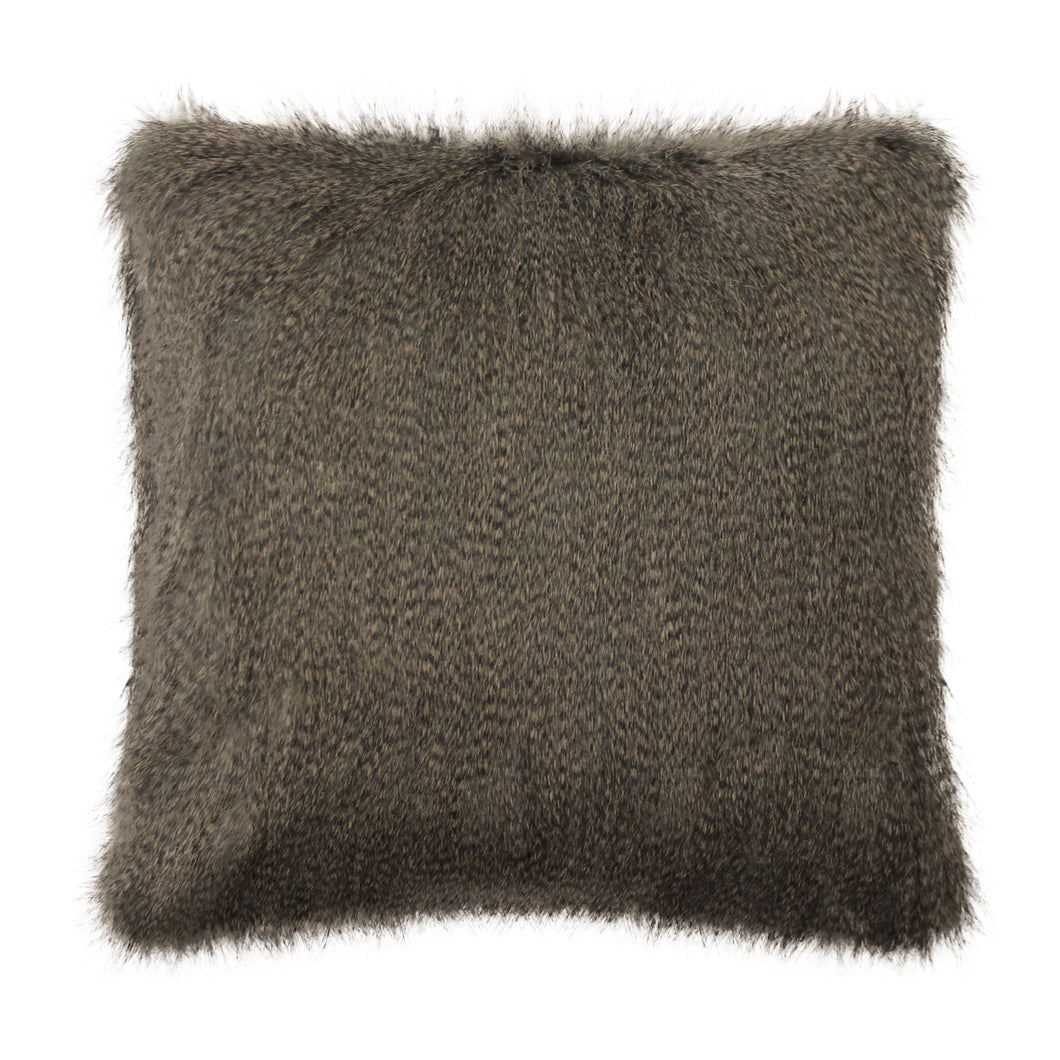 Swallow B Grey Faux Fur Cushion