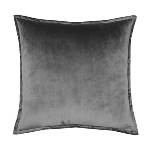 Velvet Grey Cushion w/Flange