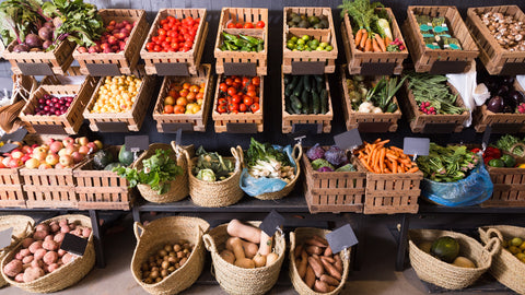 A market place for vegetables